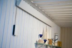 Beltéri oldalfali infrapanel - Thermoplus elektromos fűtőpanel felszerelve